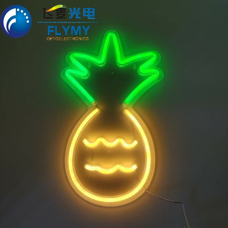 Europe quality certificated wholesale LED pineapple neon night light for home decoration