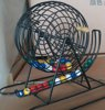Deluxe Wire Cage Bingo Set/Bingo Supplies Jumbo Bingo Game
