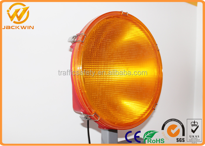 340mm Diameter Twofold Halogen Xenon LED Warning Light For Delineator Bollard