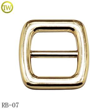 Wholesale golden metal buckle for strap adjustment bags metal release buckle