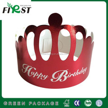 Children party red golden cardboard Birthday Paper Crown Cap