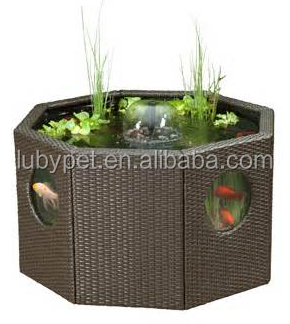 Octagon Rattan Water Garden Tank For Koi Buy Koi Pond