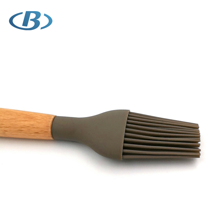 Wholesale Silicone Barbecue Basting Brush with Wooden Handle