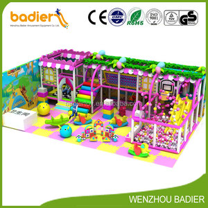 2017 hot Kids indoor playground equipment themed play areas