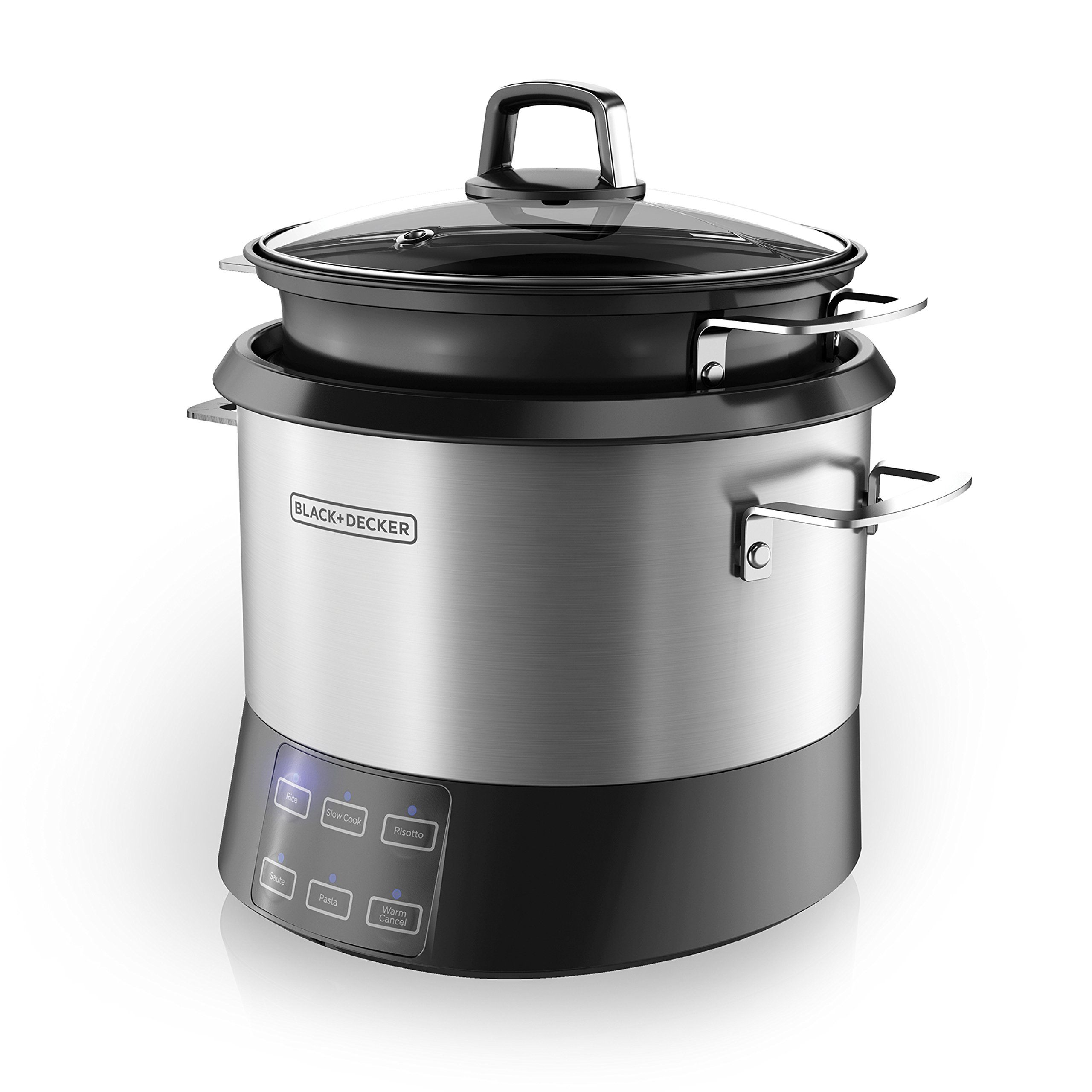 Get Quotations · BLACK+DECKER RCR520S All-in-One Cooking Pot, 20-Cup Cooked