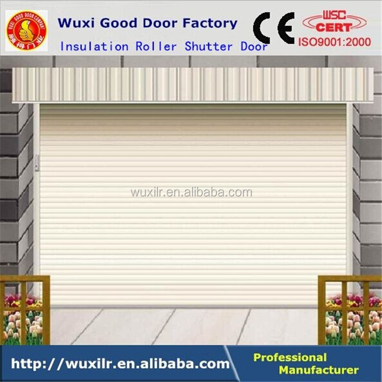 Best Quality Steel or Aluminum Rolling Shutter Door Insulation Roll-up Doors