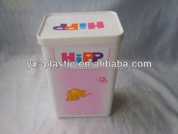 Plastic Baby Milk Powder Box,seal Square Storage Box