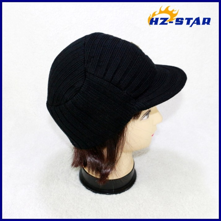 HZM-13420004 100% Acrylic knitted fashion canadian winter russian men best selling knitted hats and cap