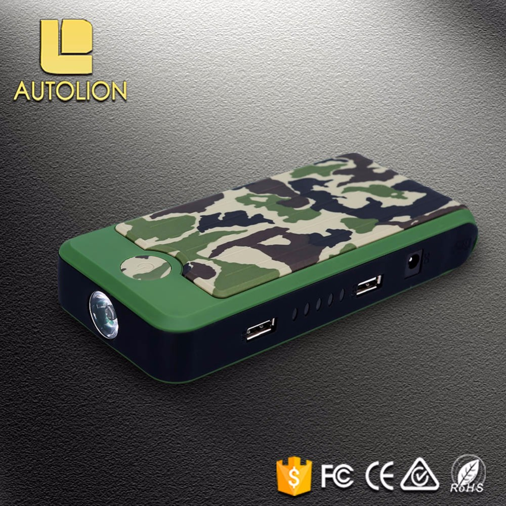CE FCC ROHS Approved Diesel Petrol Vehicle Mini jump starter battery booster multi-functional emergency auto safety tool led