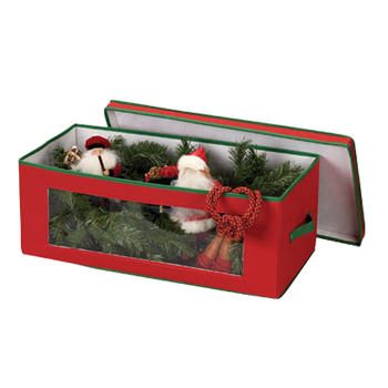 red holiday christmas wreath storage bag for wreaths