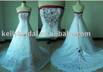 Vestidos de novia rojo y blanco 2015