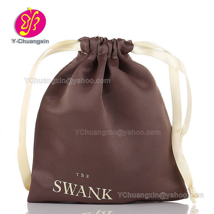 Personalized Color cheap Satin Favor Bag with logo printed