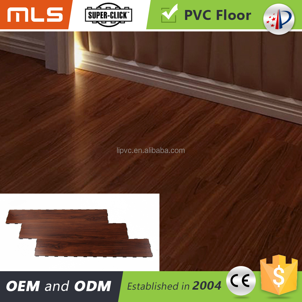 Wood like Plastic pvc waterproof laminate flooring DIY Tile Interlock indoor Tile