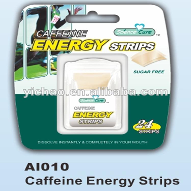 Teeth Whitening Strips Sugar Free Caffeine Energy Breath Mint