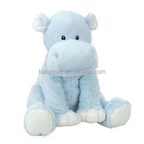 New arrival custom OEM blue hippo plush toy sea animal toy for promotion gift