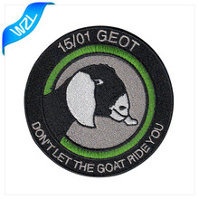 2018 Fashion custom adhesive scout embroidered skull patches