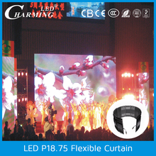 Best quality factory price P18.75 flexible led curtain display outdoor