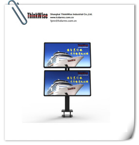 ThinkWise BL200 dual lcd vertical monitor desk lcd support