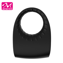 New design rechargeable full silicone sex toys vibrating penis cock ring