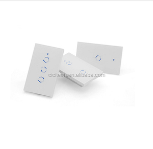 Sonoff T1 US 1 2 3 Gang US Standard WiFi RF Smart Wall Touch Light Switch 600W/gang 2A/250V/GangSwitch Works With Alexa