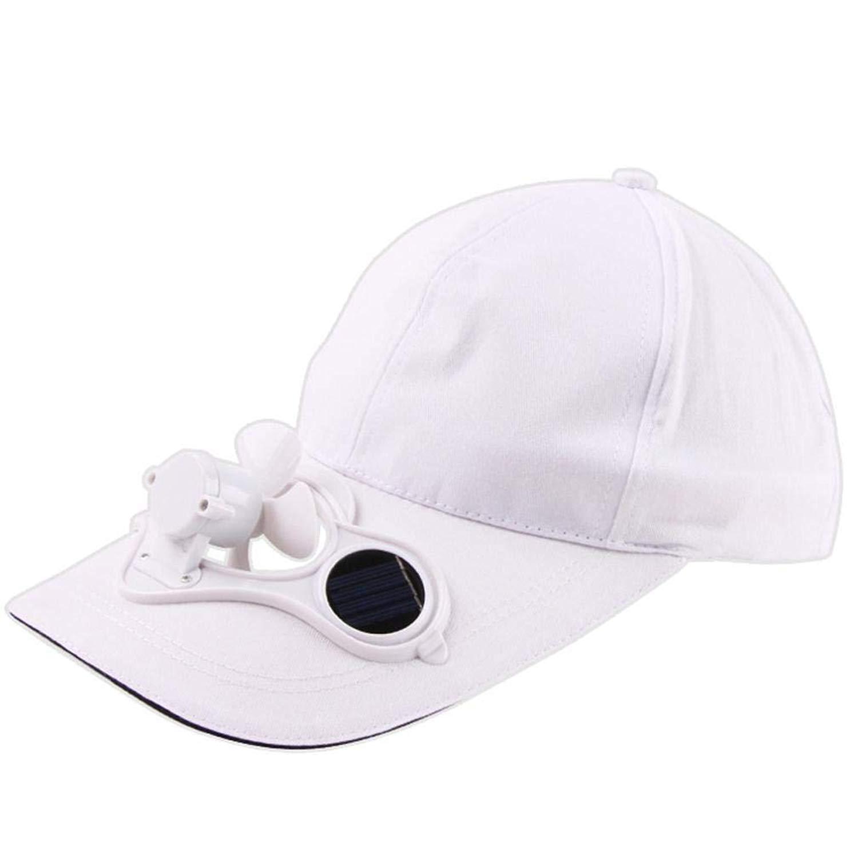 Hanican Fashion Women Men Hats Camping Hiking Peaked Baseball Caps Sun Hat Cooling Cap Solar Powered Fan