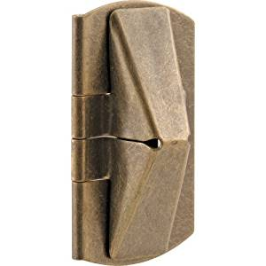 Prime-Line Products U 9929 Double Hung Wood Window Flip Lock, 1 in. x 2 in. x 7/16 in., Steel, Antique Brass, by Prime-Line Products