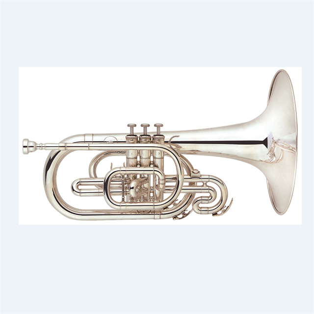 America music style marching french horn Marching Mellophone, Gold