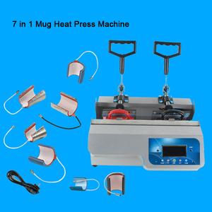 Mini Semi-automatic 3d Sublimation Combo Cup Printing Machine Double  Station 7 in 1 Mug Heat Press Machine