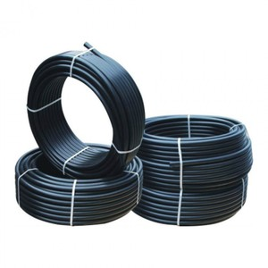 2 inch black HDPE plastic water supply pipe roll