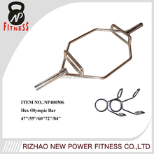 Weightlifting hex trap steel bar for sale