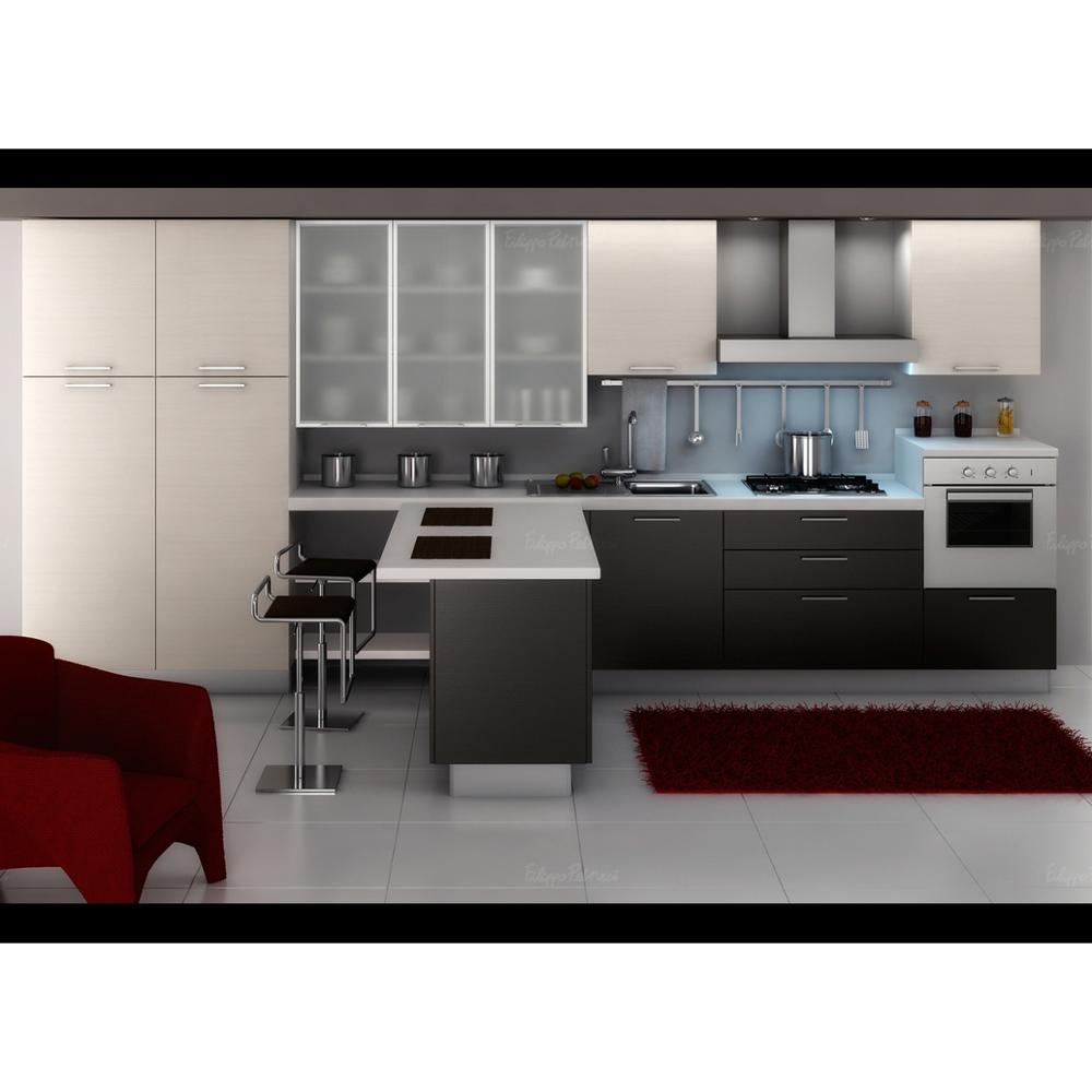 Germany Pvc Modern Kitchen Furniture