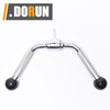cable attachment Chain Fitness Single double Stirrup Handle Bar solid lat bar for Gym Machine Accessory bar PU coated