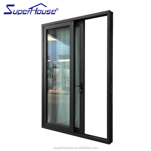 Reynaers Luxury System Finish Aluminium fire rating Large double glass Sliding Doors For Balcony