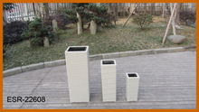 3PCS White Flower Pot Outdoor Furniture