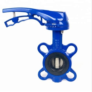 DN50 PN10 PN16 or 150LB Wafer Type Stainless Steel CF8 Disc Cast Iron Butterfly Valve Price