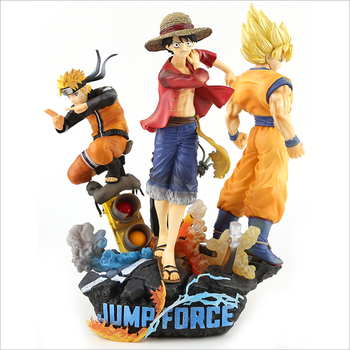 Dragon Ball Naruto One Piece luffy Son Goku Anime action figure Wholesale a set of 3 Boxed pvc figure Decoration 26CM