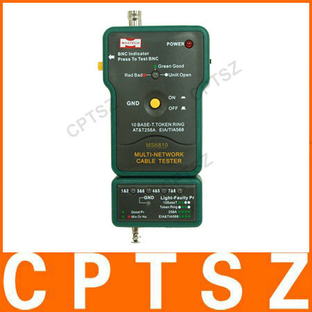 MS6810 Multi Network Cable Tester Meter RJ45 BNC Tests