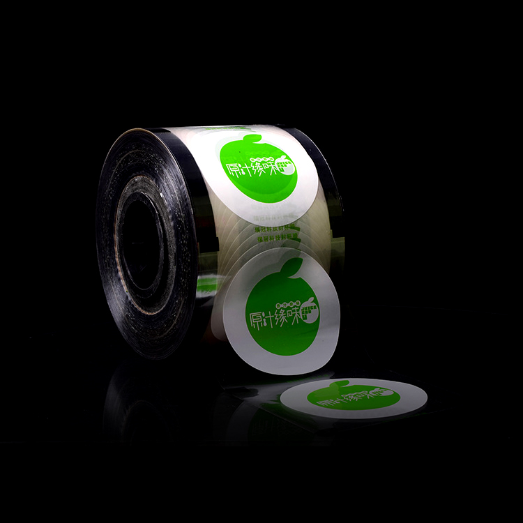 Kundenspezifische heat sealing 2 kg plastikbecher siegelfolie rolle für milch tee verpackung