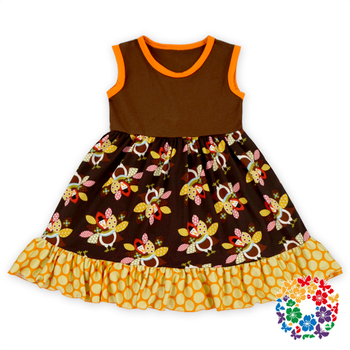 e4cb1d4392553 Thanksgiving Day Girls' Dresses Baby Summer Sleeveless Cotton Turkey Dress  1-6 Years Old Baby Girl Dress - Buy Baby Girl Dress,Custom Baby Girl ...