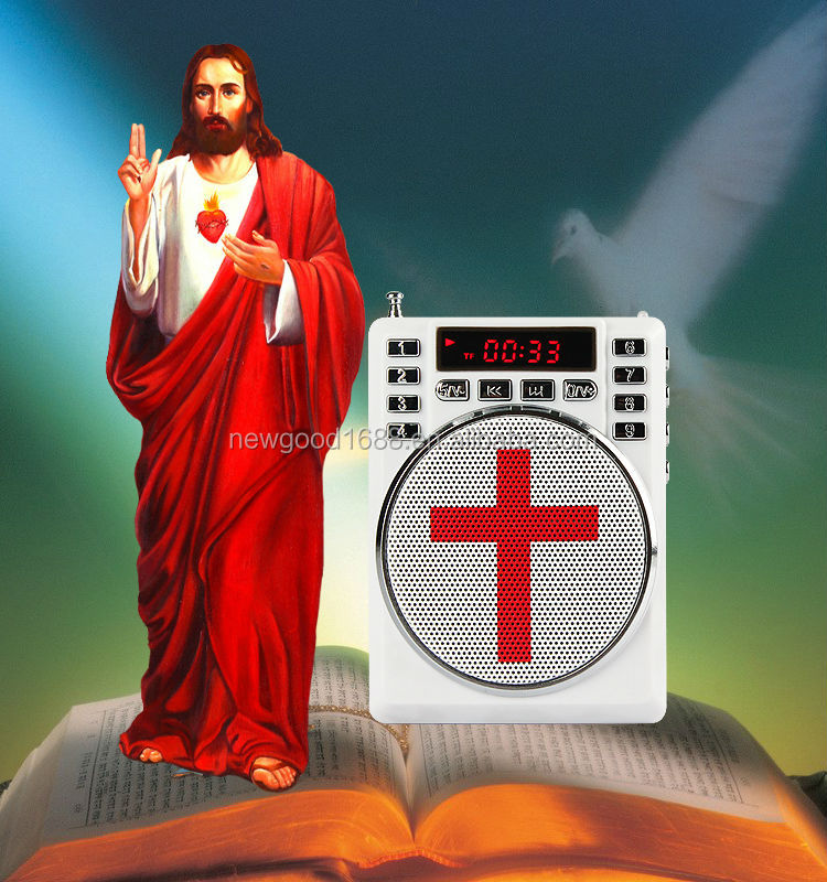 mini voice amplifier speaker with fm radio and music <strong>player</strong>,special design for Catholicism,Eastern Orthodoxy,Islam