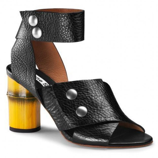 2f562d3bf Buy 2015 Acne Studios Bamboo Thick Heels Ankle Wrap Open Toe Brand Women  Sandals Comfortable New Black Genuine Leather Summer Shoes in Cheap Price  on ...