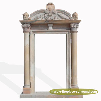 Home Door Decorative Marble Stone Gate Square Door Frame Surround ...
