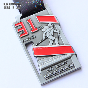 custom design fesert challenge 31km finisher metal award medal gold silver bronze school medals
