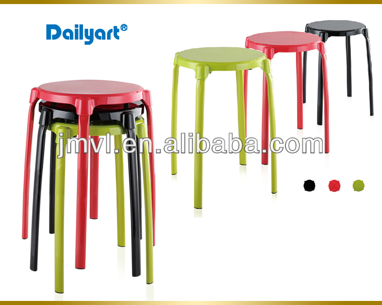 (V052003) Multipurpose metal round rattan wicker outdoor bar stools