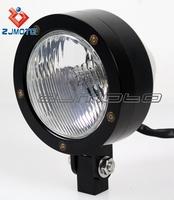 Zjmoto Prison H4 12v Bulb Headlight Motorcycle Chrome Head Lamp ...