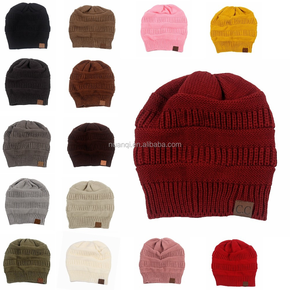Womens Trendy Fashion Multicolor Winter Slouch Baggy Knitted Cc ...