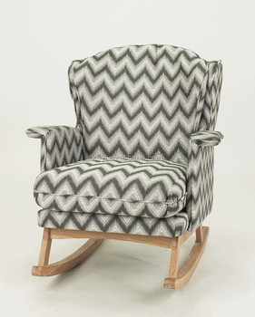 Different Color Choose Home Furniture Use Fabric Cover Wood Armchair/fabric  Wooden Rocking Chair(