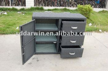 outdoor rattan storage box wicker drawer cabinet sv 1022 buy rattan storage box wicker drawer. Black Bedroom Furniture Sets. Home Design Ideas