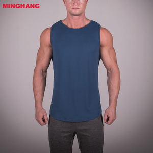 Stylish Mesh Back Detailing Breathable Sports Apparel Men Comfortable Quick Dry Bodybuilding Running Wrestling Tank Top