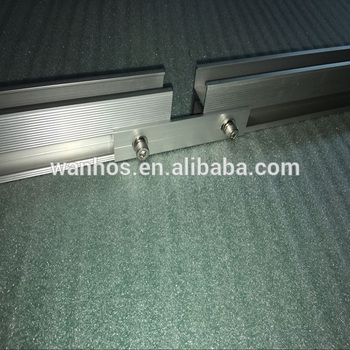 Aluminum alloy anodized rail splice kit for solar roofing mounting system